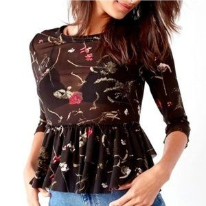 Urban Outfitters Out From Under Sheer Peplum Top